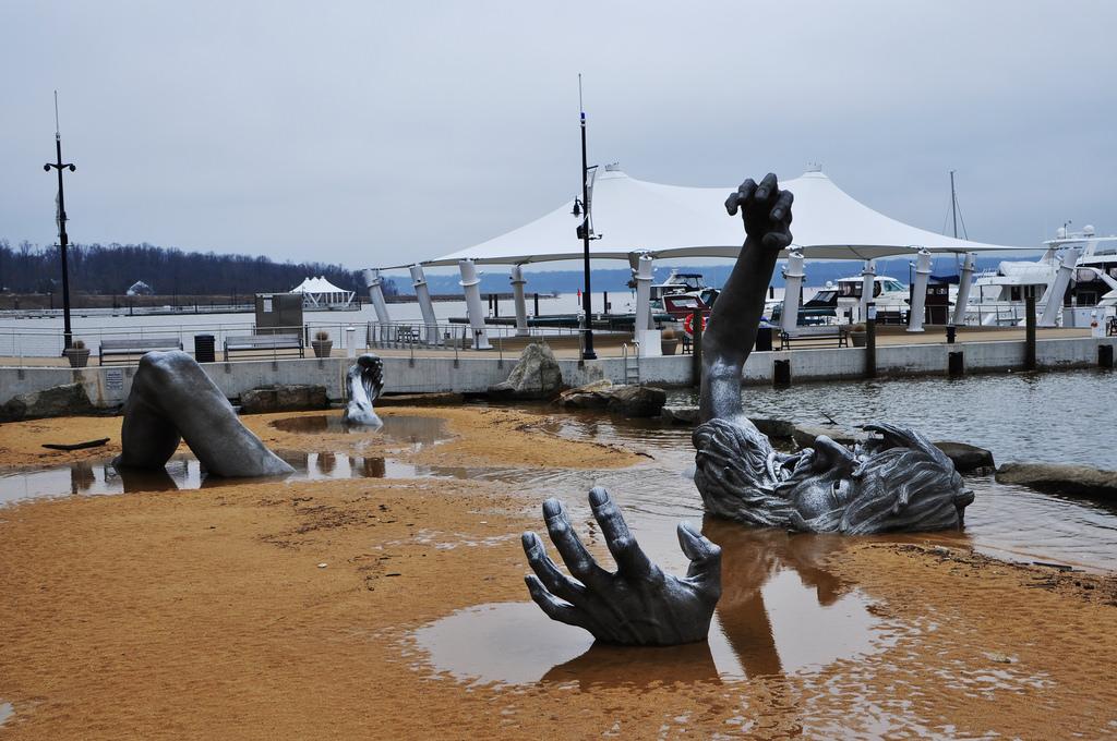 The Awakening sculpture, National Harbor, Maryland.