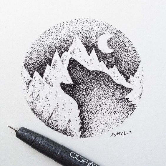pointillism negative space