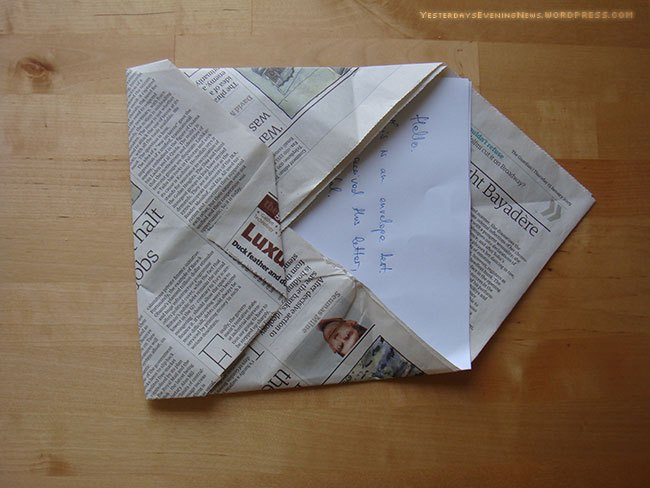 newspaper envelope