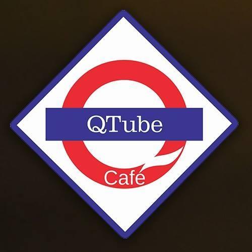 QTube Cafe logo