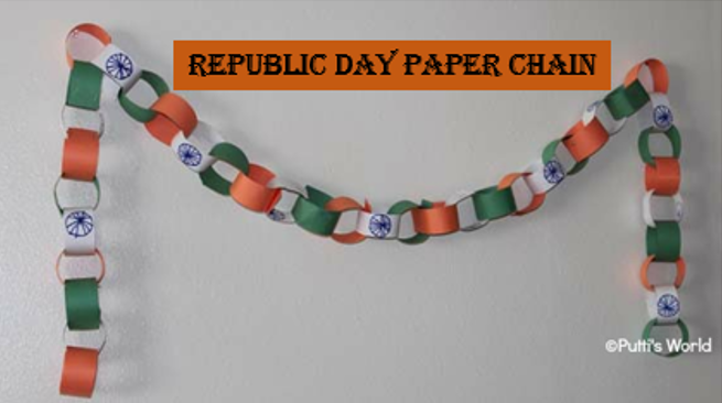 republic day paper chain